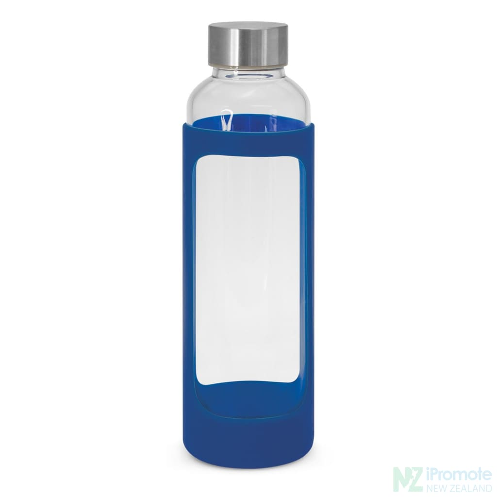 Venus Drink Bottle With Silicone Sleeve Royal Blue Glass