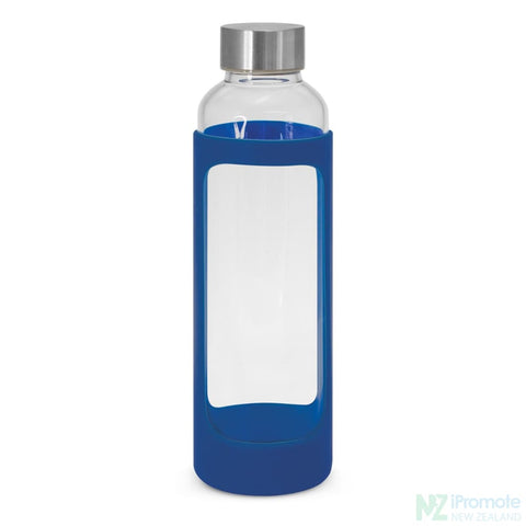 Image of Venus Drink Bottle With Silicone Sleeve Royal Blue Glass