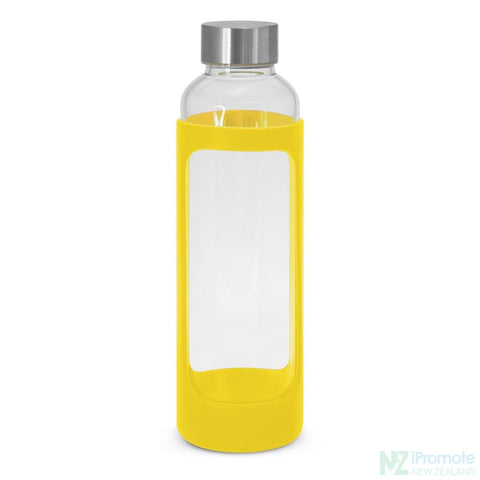 Venus Drink Bottle With Silicone Sleeve Yellow Glass