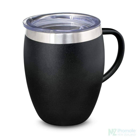 Image of Verona Vacuum Cup With Handle Black Cups
