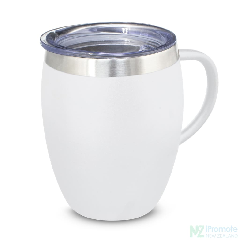 Verona Vacuum Cup With Handle White Cups