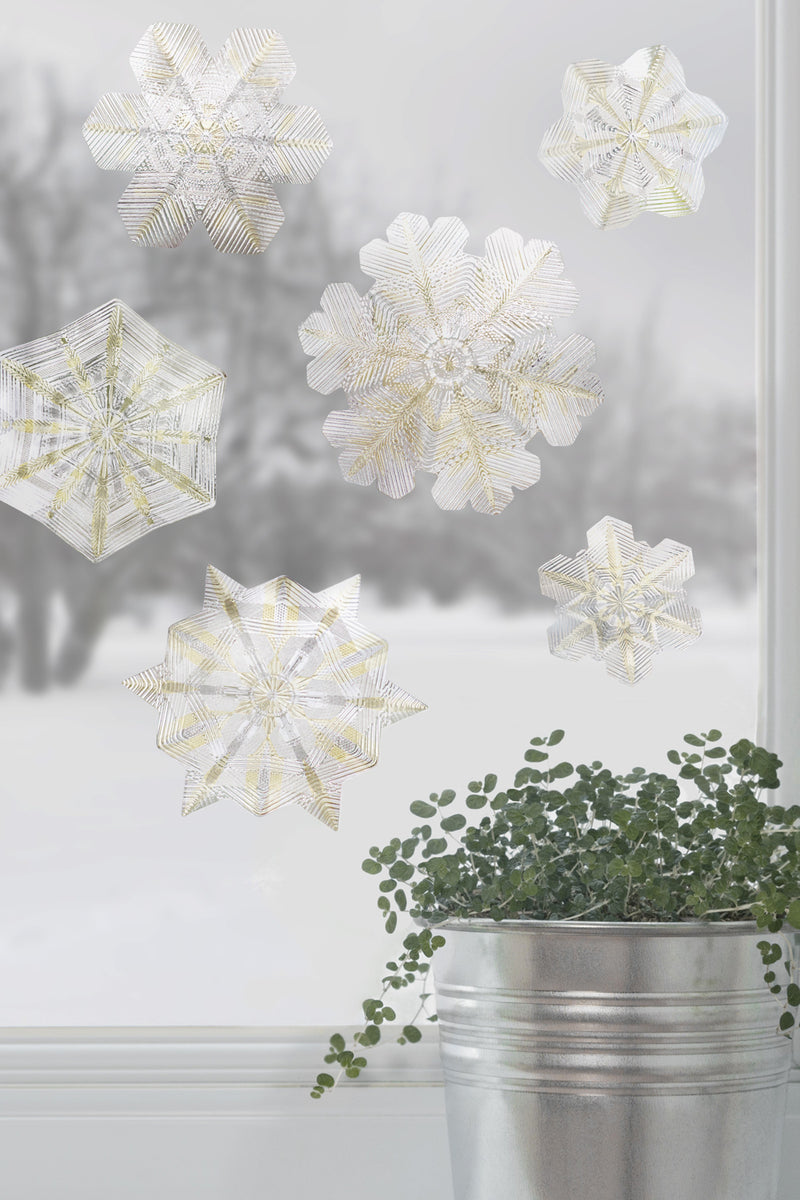 Artscape Citrine Snowflake Window Film Accent Lifestyle Image
