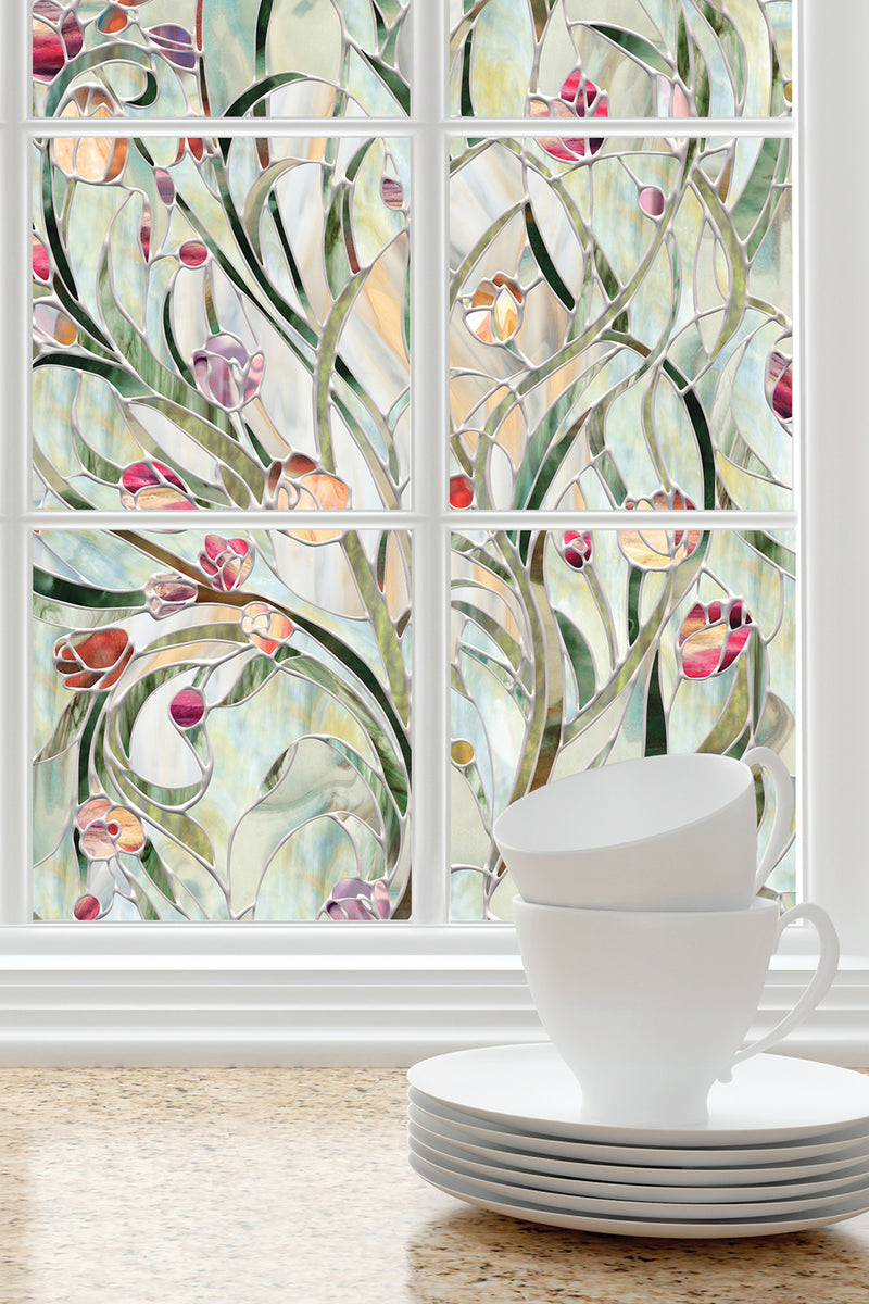 Artscape Spanish Garden Window Film Lifestyle Image