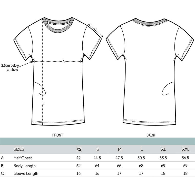 Fitted Top Size Guide