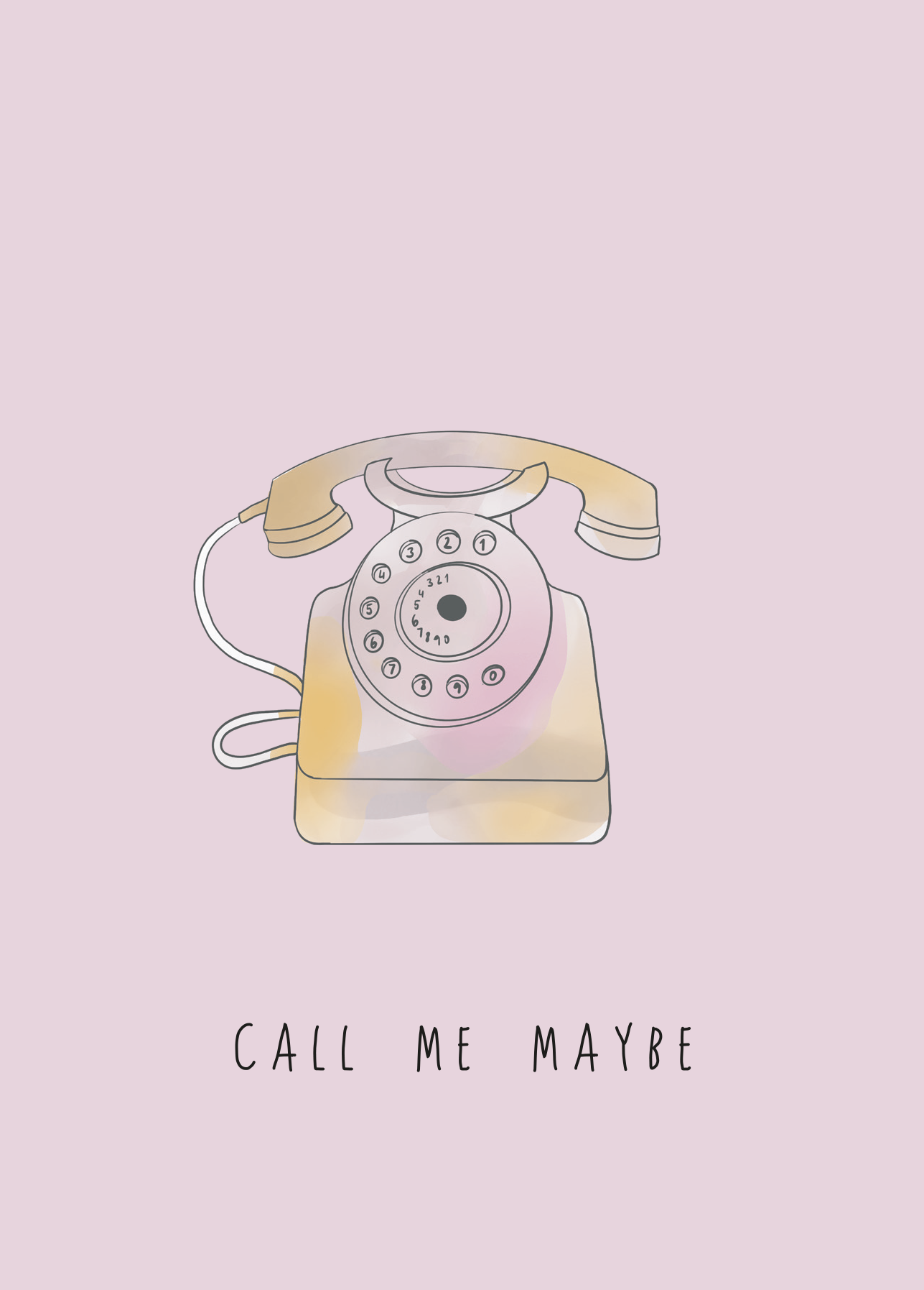 Silbernetz Call me maybe Postcard