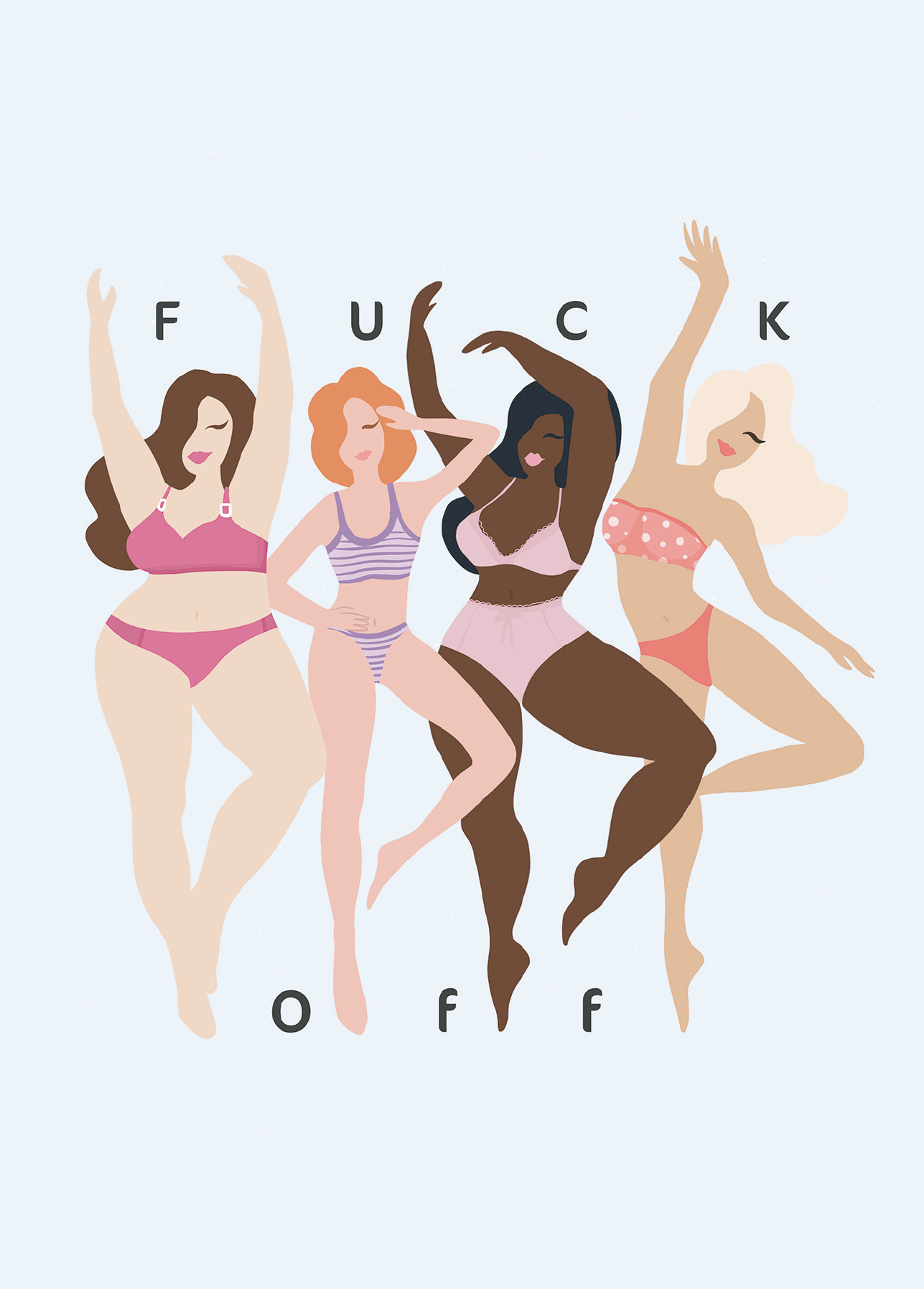 Amadeu Antonio Foundation F*ck off Postcard