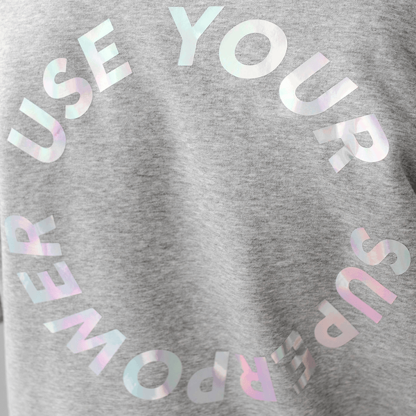 Use your Superpower Unisex Brushed Hoodie