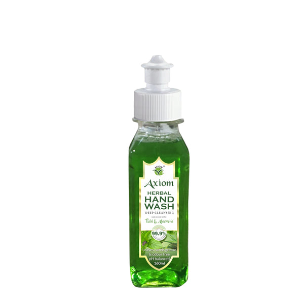 Axiom Herbal Hand Wash 160ml enriched with Aloevera & Tulsi(Pull Push Pump)