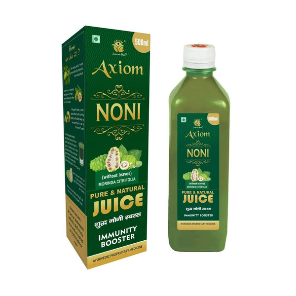 Axiom Ayurveda Noni Juice 500 ml | Immunity Booster | Made with Fresh Noni Fruit | WHO GMP GLP Certified Product | No Added Color | No Added Sugar