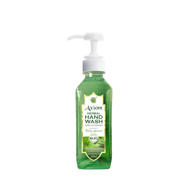 Axiom Herbal Hand Wash 250ml enriched with Aloevera & Tulsi(Table top dispenser)