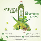 Aloevera Amla Juice 500ml | Boosts Immunity | Purifies Blood | Relieves From Constipation | Improves Eyesight | 100% Natural WHO GMP, GLP Certified Product