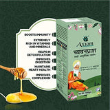 Axiom Immunity Booster Pack of Royal Ayurvedic Chyawanprash 1kg & Ashwagandha Leaf juice | Made With Deshi Cow Ghee(A2 Ghee), Kashmiri Saffron & Wild Natural Honey | 2X Immunity | | No Artificial Colour & Flavours