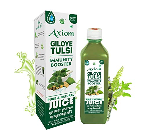 Axiom Pure Giloy Tulsi Stem Juice 500 ml | Pack of 2