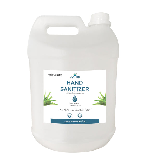 Axiom Hand Sanitizer 5Litre- Enriched with Aloevera, Neem and Haldi