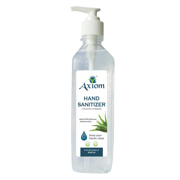 Axiom Hand Sanitizer 500ml(Push Pump) Enriched with Aloevera, Neem and Haldi