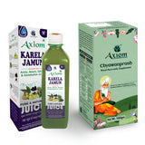 Axiom Immunity Booster Pack of Royal Ayurvedic Chyawanprash 1kg & karela jamun 500 ml | 2X Immunity | Made With Deshi Cow Ghee(A2 Ghee), Kashmiri Saffron & Wild Natural Honey