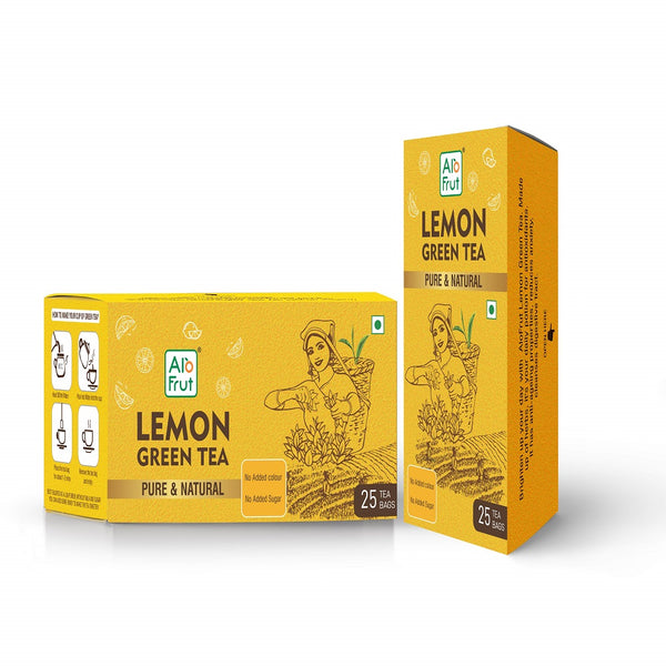 Alo Frut Lemon Green Tea Pure & natural 25 Tea Bags | Immunity Booster | Stress Reliver | No Added Colour | No Added Sugar | No Added Flavour | Pack of 2