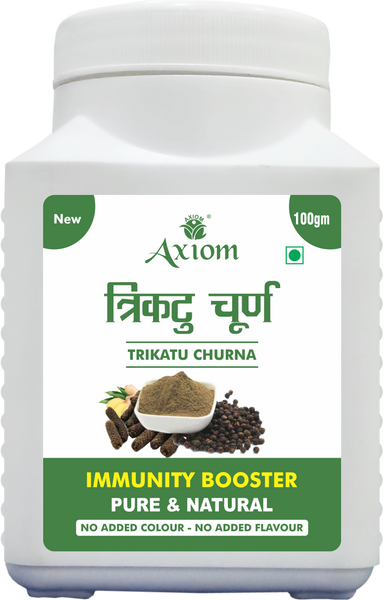 Axiom Trikatu Churna 100gm | Immunity Booster| Antioxidant Properties | Indigestion | Helps In Cough & Cold | 100% Natural WHO-GLP, GMP Certified Product