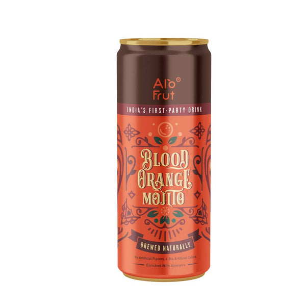 Alo Frut Blood Orange Mojito 250 ml Pack of 24 | India's First Party Drink | Taste The Natural Fizz | Brewed Naturally | Enriched With Aloevera | No Artificial Colours | No Artificial Flavors