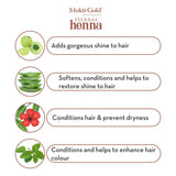 Axiom Mukti Gold Herbal Heena Dark Brown With Aloevera 10 grms Pack of 24 | Long Lasting Colour on Hair | Colours Only Hair Not Skin | No Ammonia | For Both Men & Women
