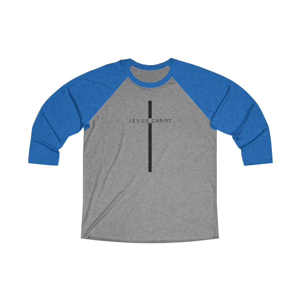 Jesus Christ Cross Unisex Tri-Blend 3/4 Raglan Tee