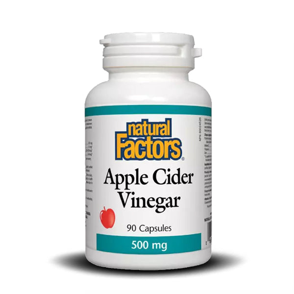 NATURAL FACTORS  APPLE CIDER VINEGAR 500 MG 90 CAPS