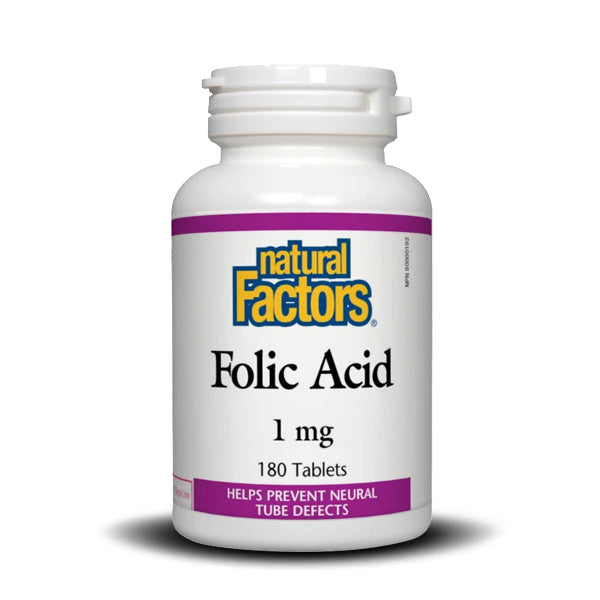 NATURAL FACTORS  FOLIC ACID 1 MG 180 TAB