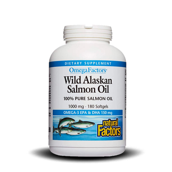 NATURAL FACTORS WILD SALMON OIL 1000 MG