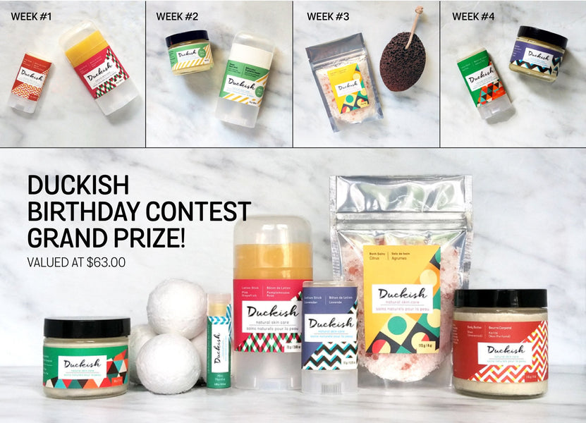 Duckish Birthday Contest! Enter to Win All-Natural Bath and Body Goodies!