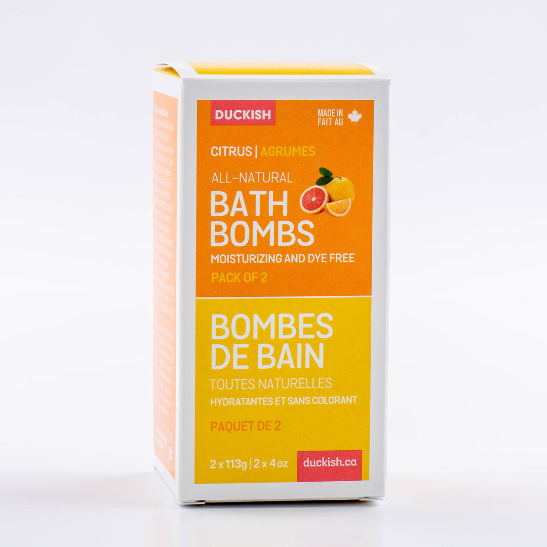 Citrus Bath Bombs Pack of 2