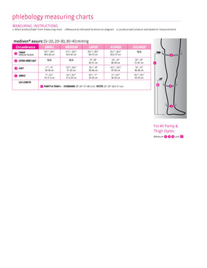 medi assure, 20-30 mmHg, Thigh High W/ Silicone Top-Band, Closed Toe