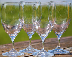 Invino Crystal Water Goblet Glasses