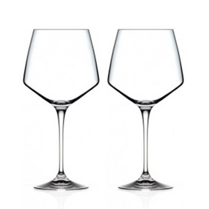 Aria Burgundy Crystal Wine Glasses