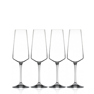 Aria Crystal Champagne Flute Glasses