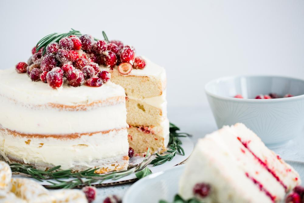 Holiday Cranberry Vanilla Bean Cake Recipe
