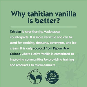 Why Tahitian vanilla is better