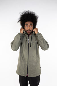 NICCE GREEN HOODED JACKET