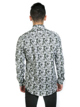 Load image into Gallery viewer, OLIVE GREEN FLORAL SHIRT