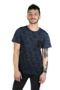 BLACK & BLUE TROPICAL TEE