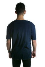 Load image into Gallery viewer, INDIGO DISTRESSED DENIM TEE