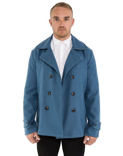 LIGHT BLUE CONTRAST PEACOAT