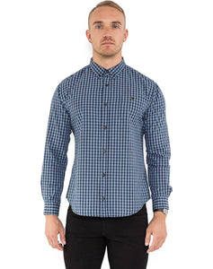 BLUE CONTRAST CHECK SHIRT