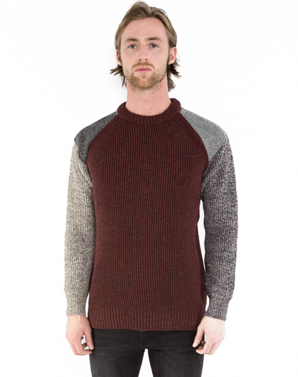 FUNKY MULTITEXTURED SWEATER
