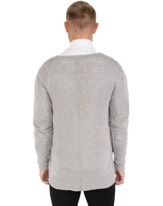 GREY DISTRESSED CARDIGAN