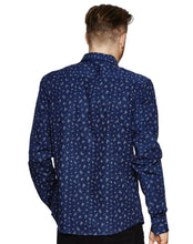 Load image into Gallery viewer, NAVY GEOMETRIC PRINT SHIRT