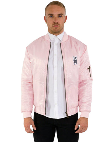 PINK SQUID PRINT BOMBER JACKET