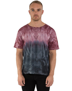 RED & BLACK TYE DYE TEE