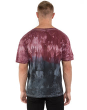 Load image into Gallery viewer, RED & BLACK TYE DYE TEE