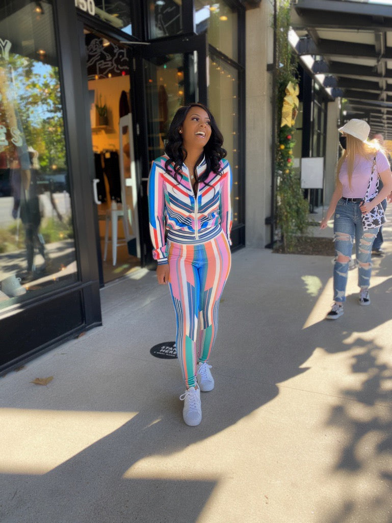 Stripe Track Suit
