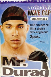 Annie Stocking Wave Cap Black #4330